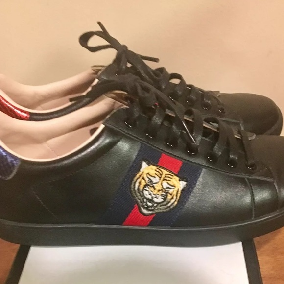 info for 6222e a66be Gucci ace black tiger sneakers